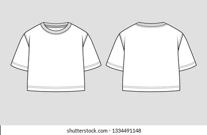 Cropped top. Mockup template.