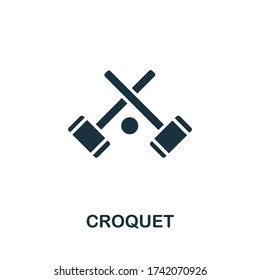 Croquet icon from australia collection. Simple line Croquet icon for templates, web design and infographics