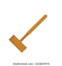 Croquet mallet icon. Flat illustration of croquet mallet vector icon for web design