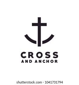 Cross Anchor Christian Catholic  Church logo design