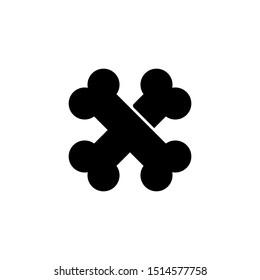 cross bone solid icon sign.cross bone symbol, logo illustration. Different style icons set. Pixel perfect vector graphics - Vector