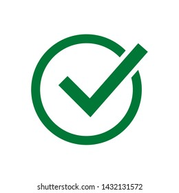 Similar Images, Stock Photos & Vectors of Green check mark icon in a