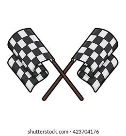 cross checkered flag racing