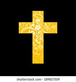 Cross. Christian Symbol. Vector illustration