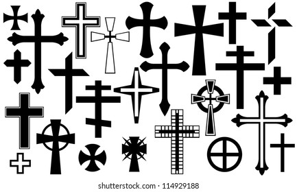 cross collage isolated on white