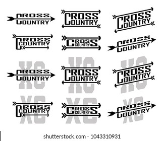 Cross Country Designs is an illustration of twelve designs for cross country runners in schools, clubs and races. Great for t-shirt, flyers and school designs.