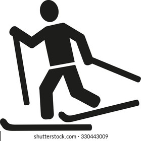 Cross country skiing pictogram