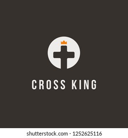 Cross and crown logo mark