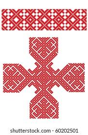 cross folk embroidery