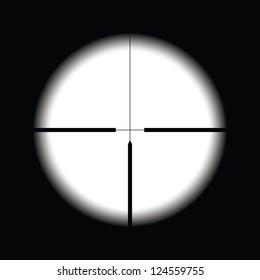 Cross hairs target on black background