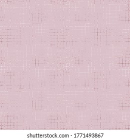 Cross hatching foil. Rose gold seamless pattern. Marble roses golden. Elegant glitter hatch fishnet. Soft pastel color. Background sparkle line. Pink abstract lines. Stylish striped texture. Vector