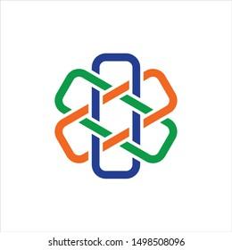 Cross Hospital logo. Health Care Symbol. Medical Icon Vector Eps 10.