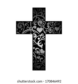 Cross isolated on White background. Christian Symbol. Vector illustration