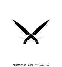 Cross knife vector art and graphics