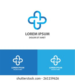 Cross logo icon design volunteers concept on template. Vector sign