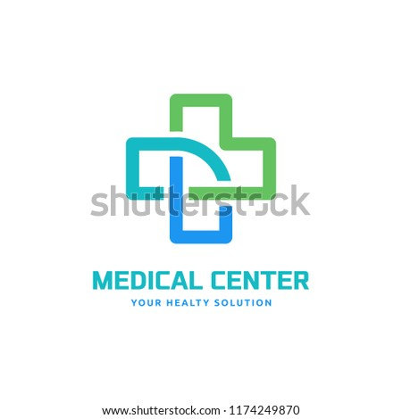 cross logo template related medical clinic stock vector royalty