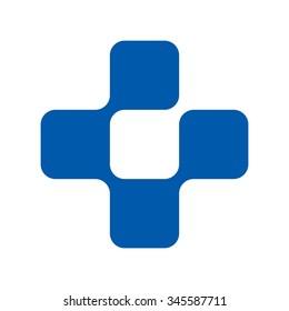 cross logo vector.
