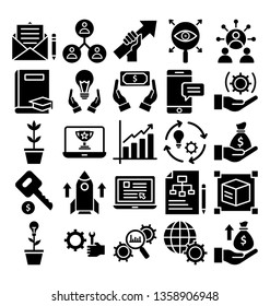 Cross Marketing Vector Icons that can be easily modified or edit