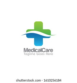Cross Medical Logo and Icon Vector Template