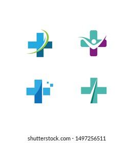 Cross Medical Logo template vector illustration design
