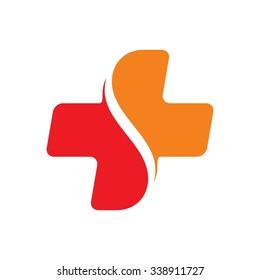 cross medical logo vector.
