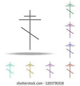 cross orthodox outline icon. Elements of religion in multi color style icons. Simple icon for websites, web design, mobile app, info graphics