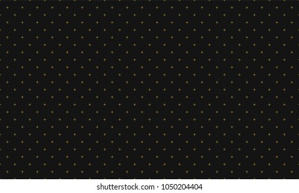 Cross pattern seamless luxury design gold on dark gray background. Plus sign abstract background vector.