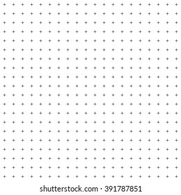 cross or plus sign seamless pattern on white background.