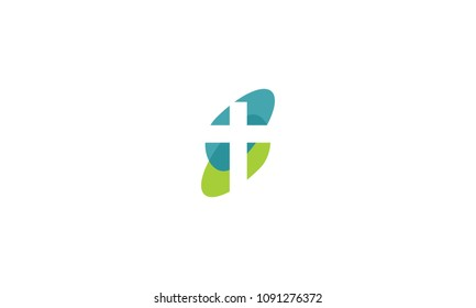 cross praying abstract concept logo