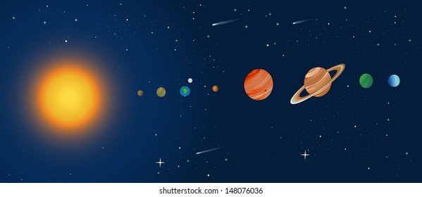 cross section of the solar system