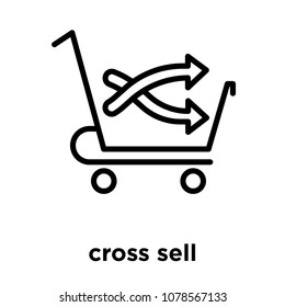 cross sell icon isolated on white background, vector illustration