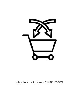 cross selling icon vector template