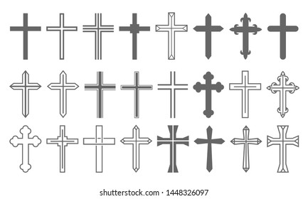 Cross Set Christian Icon Collection