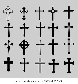 Cross Set, Collection of beautiful designs for clothes, card or home design