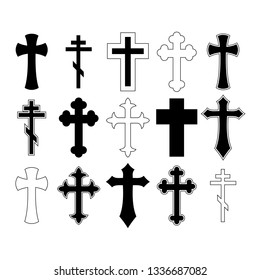 Cross set vector illustration