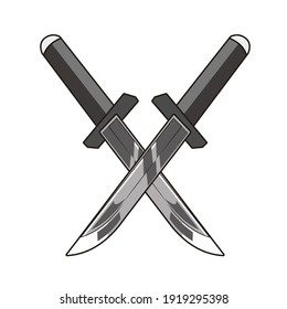 cross sharp blade vector design
