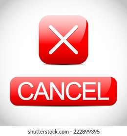Cross sign with cancel button. Cancel, cancellation concept.