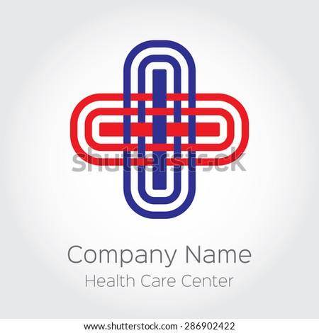 Cross Sign Logo Medical Clinic Health Stock Vector Royalty Free