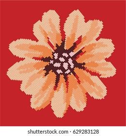 Cross Stitch Flower Images, Stock Photos & Vectors