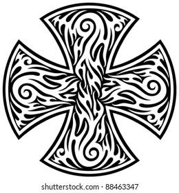 cross tribal tattoo