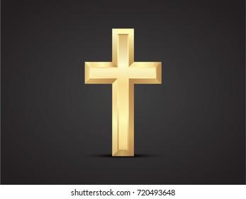Cross vector drawing