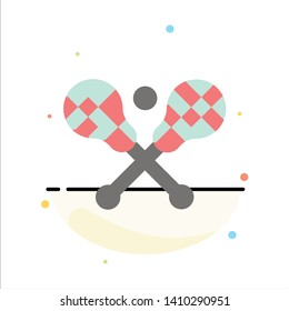 Crosse, Lacrosse, Stick, Sticks Abstract Flat Color Icon Template