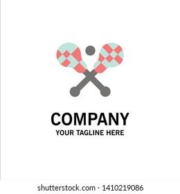 Crosse, Lacrosse, Stick, Sticks Business Logo Template. Flat Color