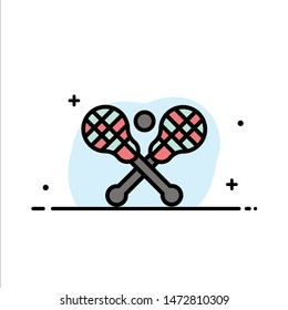 Crosse, Lacrosse, Stick, Sticks  Business Flat Line Filled Icon Vector Banner Template