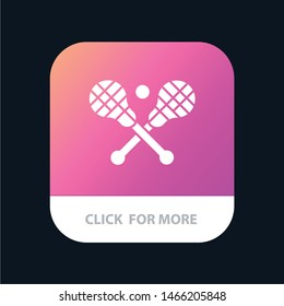 Crosse, Lacrosse, Stick, Sticks Mobile App Button. Android and IOS Glyph Version. Vector Icon Template background