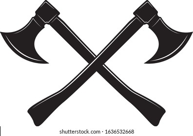 Crossed Axes, Crossed Battle Axe, Executioner Axe, Executioner Axe in Vector