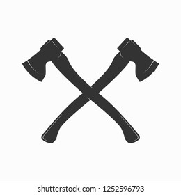 Crossed Axes Vector Illustration