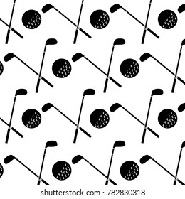 crossed clubs and ball golf icon image