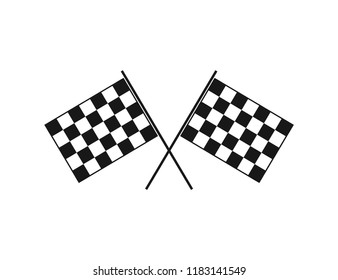 crossed flag speed racing themed illustration vector design template