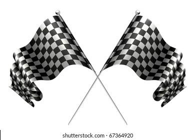 Crossed flags, 10eps